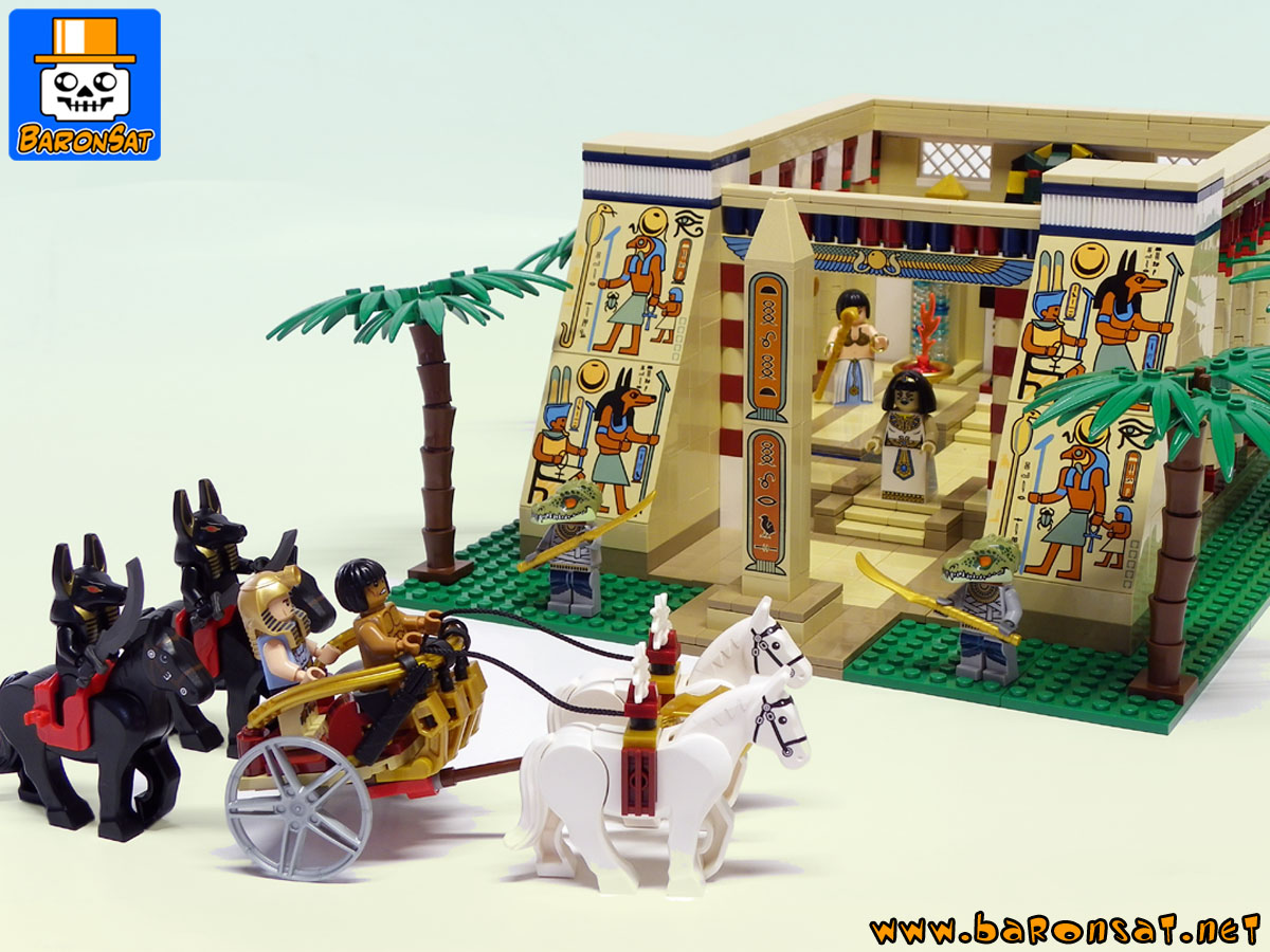 Lego moc EGYPTIAN & PHARAOH CHARRIOT ancient playset custom models made of bricks