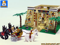 EGYPTIAN TEMPLE & PHARAOH CHARRIOT playset custom moc models made of lego bricks