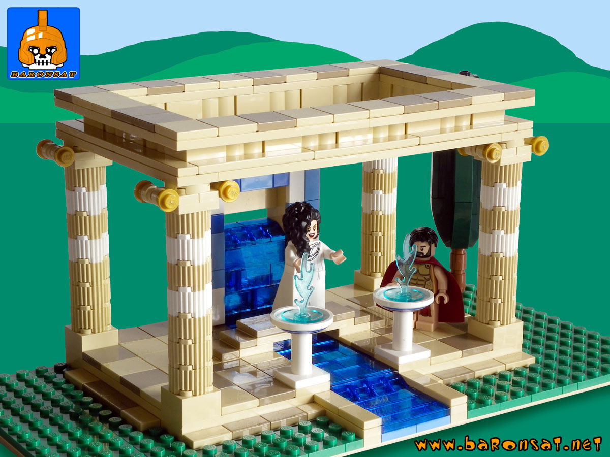 Lego moc Ancient Greek Water Temple Model