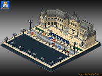 architecture custom moc models made of lego bricks