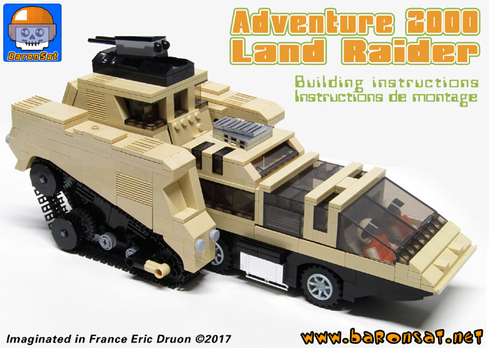 lego building instructions Land Raider custom model moc