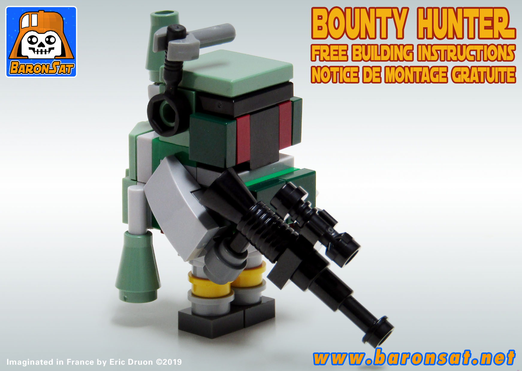 Free Lego Instructions Boba Fett brick figure