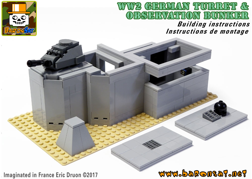 lego ww2 german bunker turret building instructions pdf moc