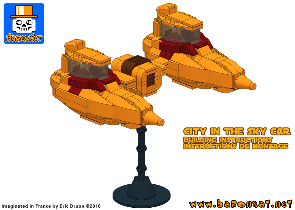 lego bespin cloud car custom model building instructions