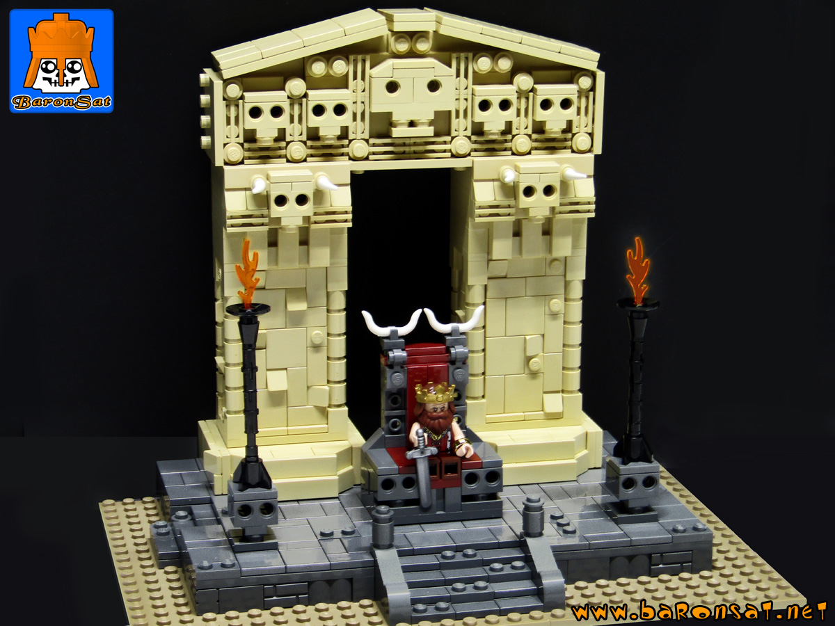 conan the barbarian custom moc models made of lego bricks