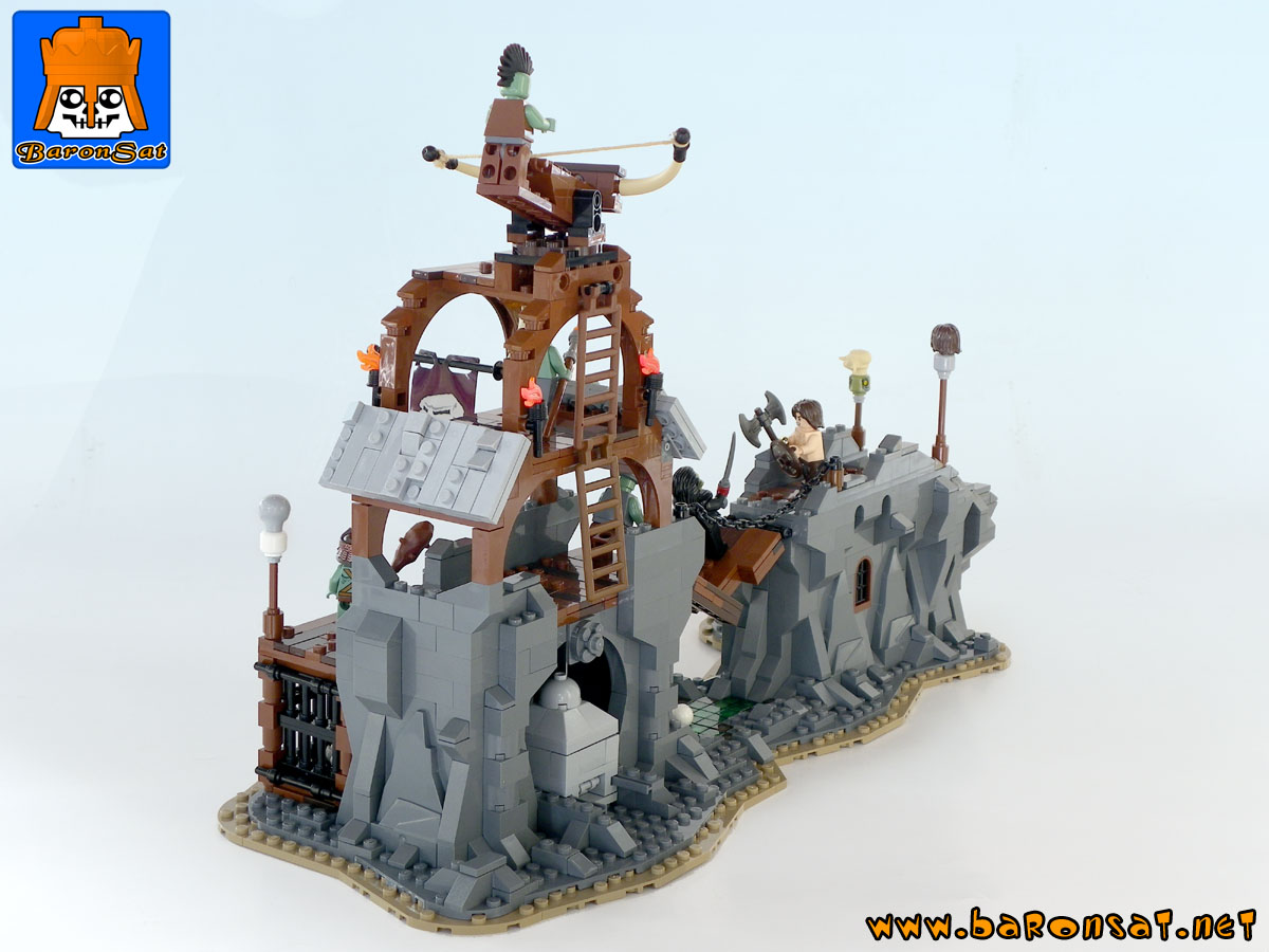 orcs fortress playset custom moc models made of lego bricks