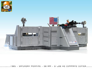 gi joe hq custom moc models made of lego bricks