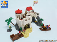 pirates island playset custom moc models made of lego bricks